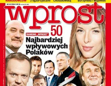 WPROST  lista 50 najbardziej wpływowych Polaków