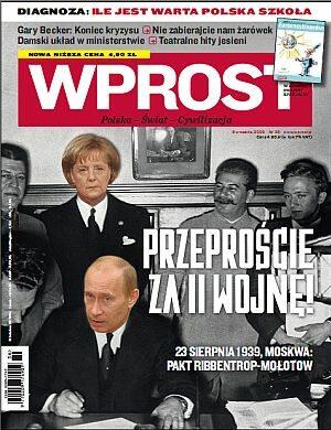 Okładka tygodnika Wprost nr 36/2009 (1389)