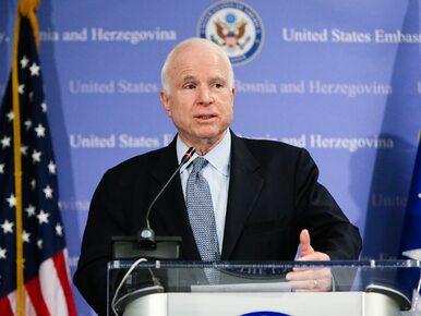 John McCain rezygnuje z dalszego leczenia. Senator cierpi na nowotwór mózgu