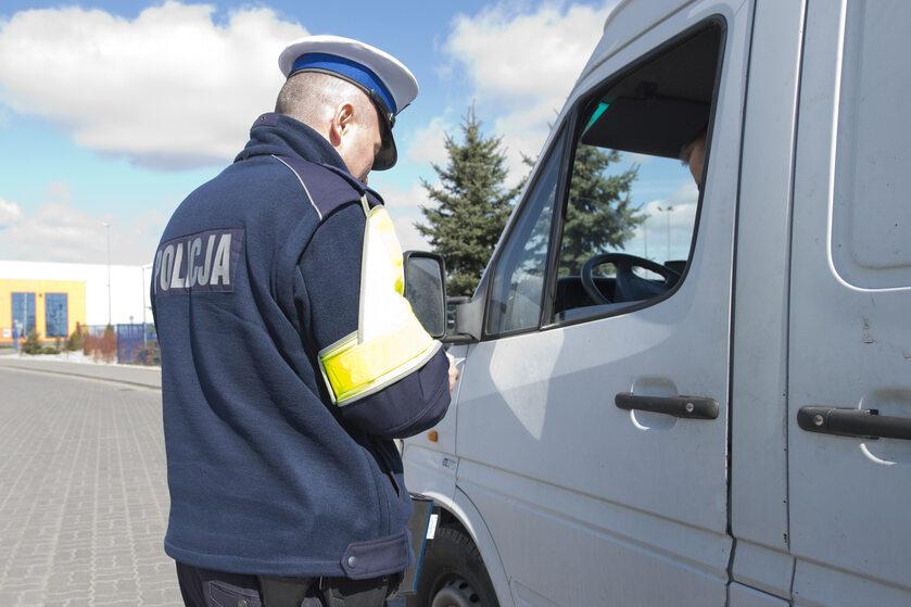 Policja, kontrola drogowa (zdj. ilustracyjne)