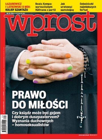 Okładka tygodnika Wprost nr 39/2013 (1596)