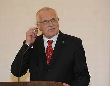Vaclav Klaus zapowiedział powołanie centroprawicowego rządu