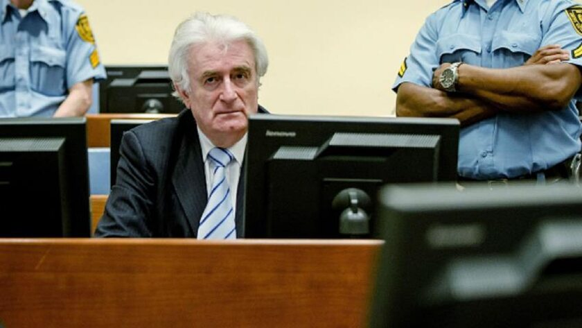 Radovan Karadżić podczas procesu w marcu 2016