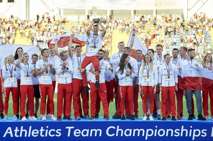 Polscy lekkoatleci podczas drużynowych mistrzostw Europy