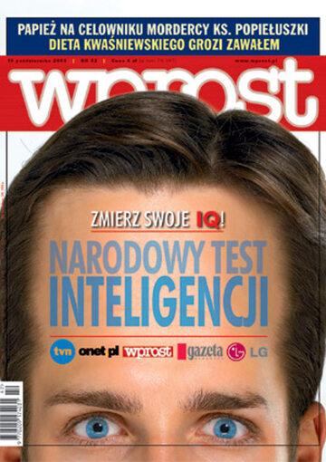Okładka tygodnika Wprost nr 42/2003 (1090)