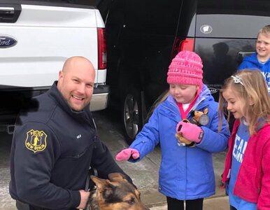 Śmiertelnie chora dziewczynka kocha psy. Policjanci przygotowali dla...