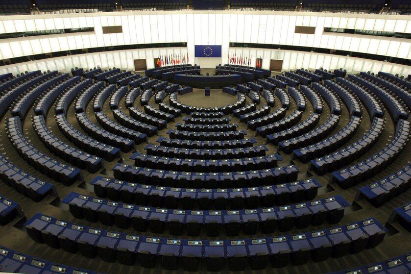 Sala plenarna w Parlamencie Europejskim