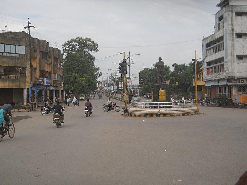 Jedno ze skrzyżowań w Rajgarh