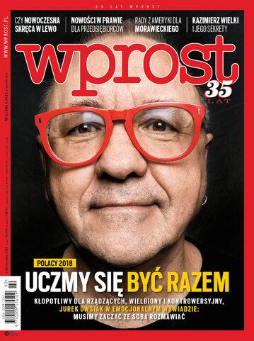 Okładka tygodnika Wprost nr 2/2018 (1818)