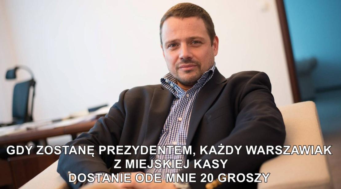 Znalezione obrazy dla zapytania memy z Trzaskowskim