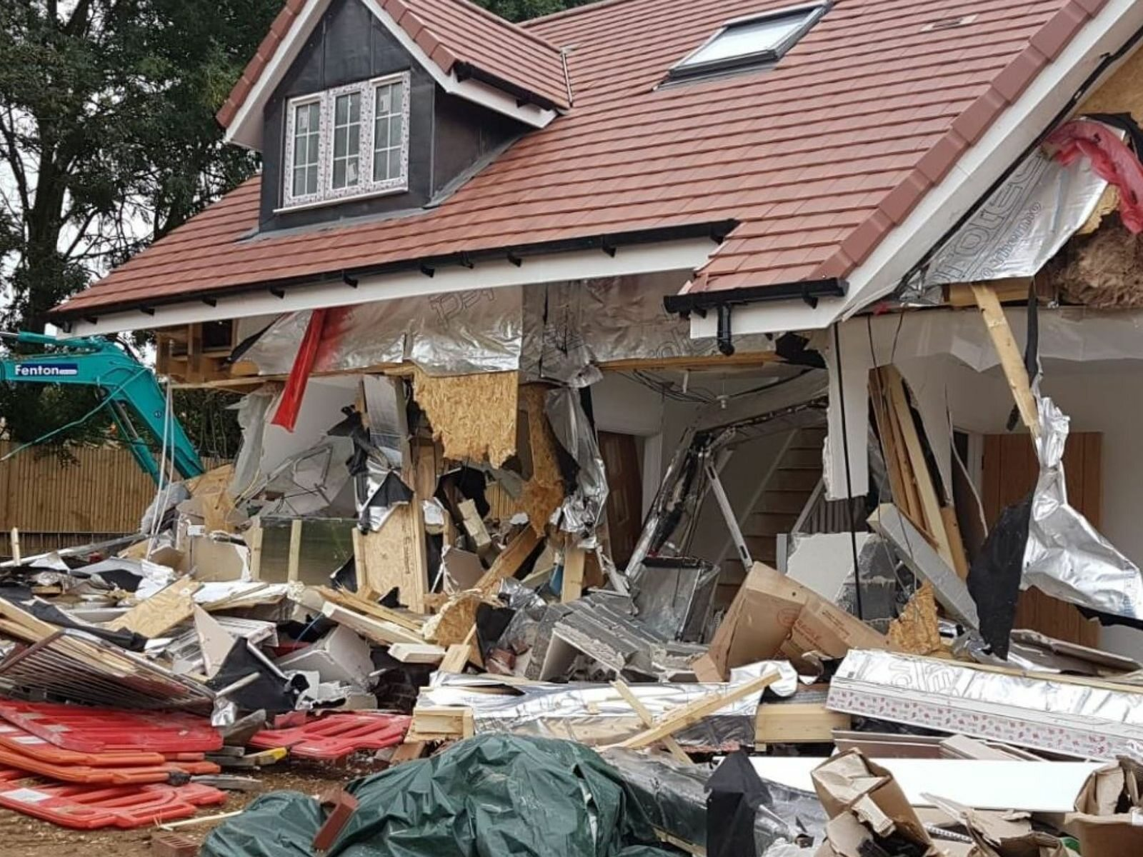 Zniszczone domy