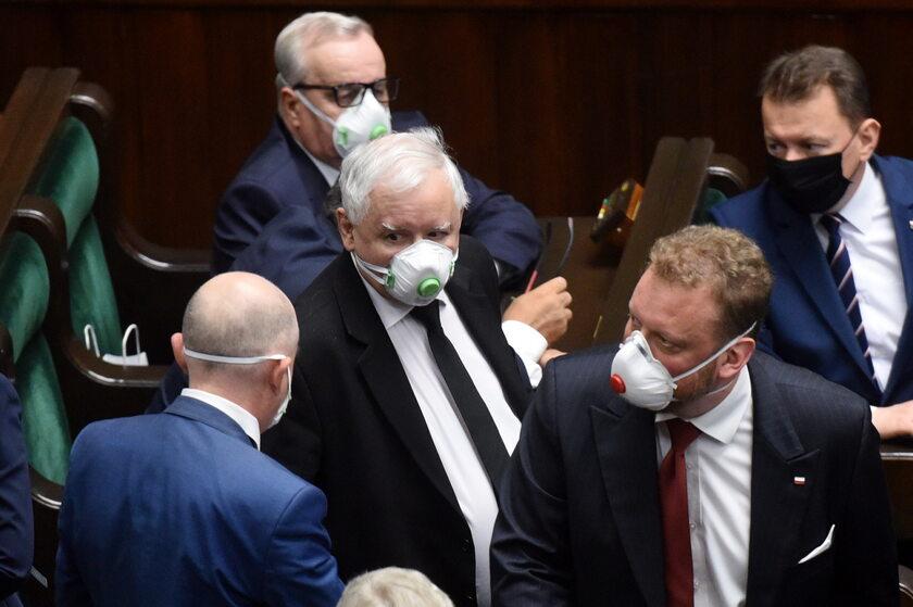 Jarosław Kaczyński, Łukasz Szumowski i Mariusz Błaszczak