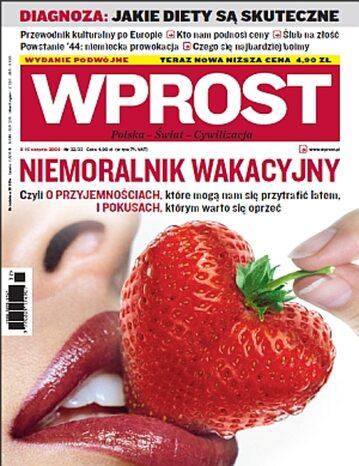 Okładka tygodnika Wprost nr 32/33/2009 (1387)