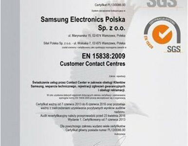 Centrum Obsługi Samsung odnowiło certyfikat zgodności z normą EN 15838:2009