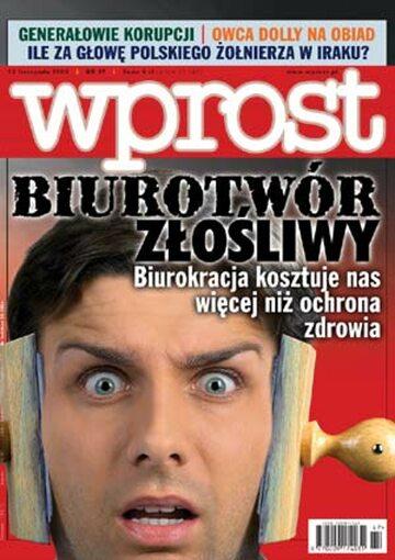 Okładka tygodnika Wprost nr 47/2003 (1095)