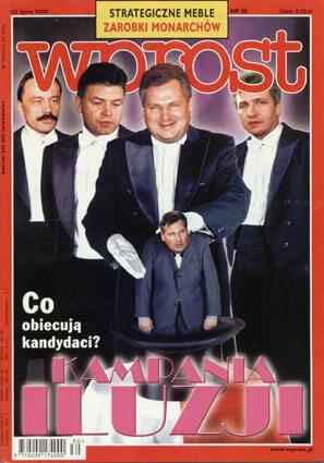 Okładka tygodnika Wprost nr 30/2000 (921)