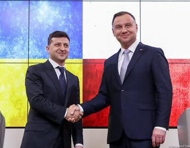 """Prezydent Andrzej Duda spotkał się z Wołodymyrem Zełenskim. """"Polska jest..."""