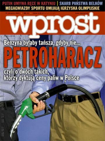 Okładka tygodnika Wprost nr 33/2004 (1133)