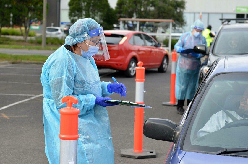 Testy na koronawirusa w Melbourne