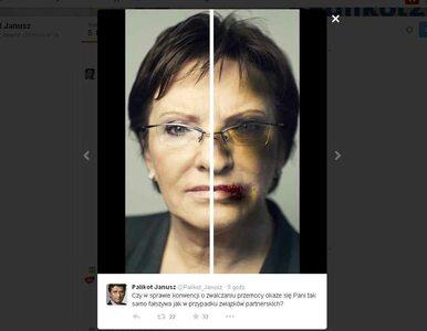 Plakat Palikota z pobitą Kopacz. Nitras: Bez komentarza
