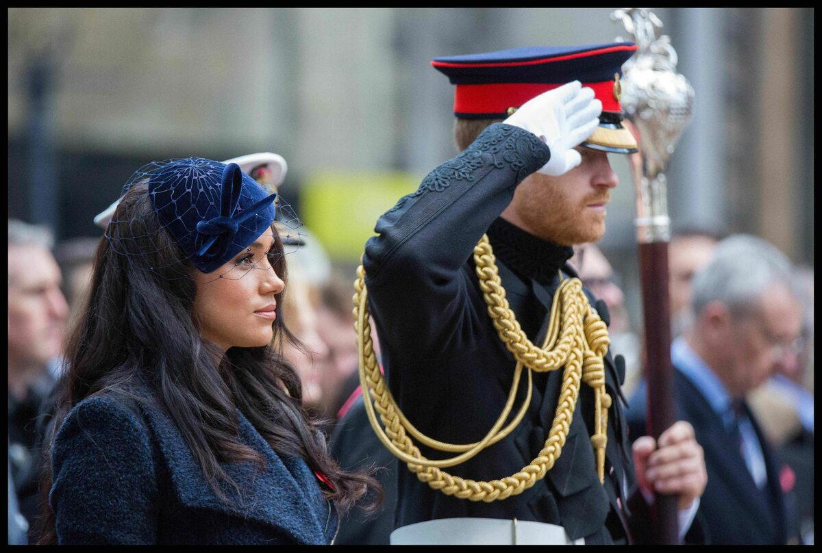 Meghan i Harry podczas Dnia Pamięci