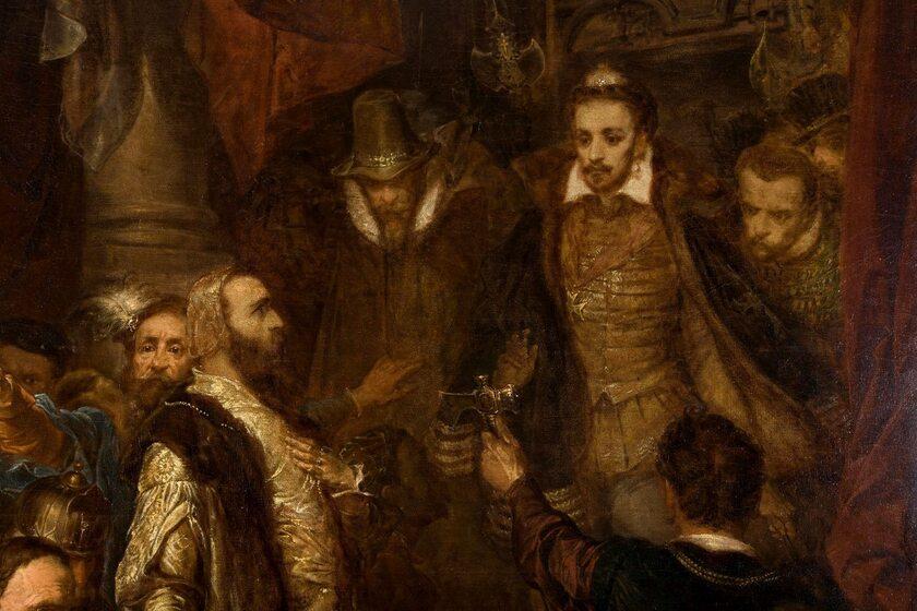 Zabicie Wapowskiego w czasie koronacji Henryka Walezego (fragment obrazu Jana Matejki)
