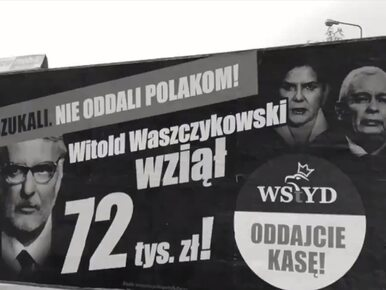 """Jest kolejna akcja billboardowa PO. """"Nie oddali pieniędzy Polakom!"""""""