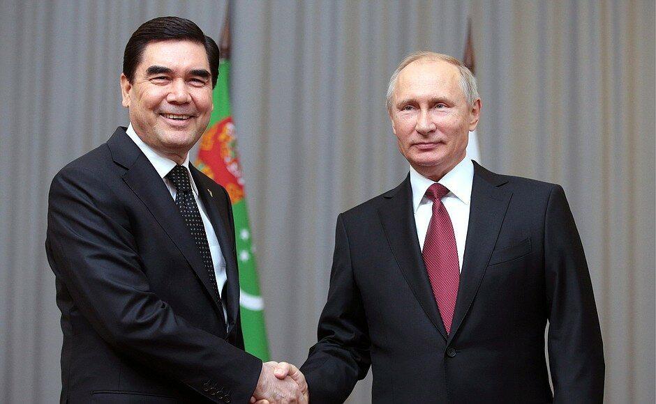 Gurbanguly Berdimuhamedow i Władimir Putin