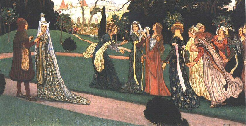 Klara Zach w otoczeniu dwórek