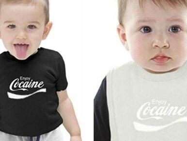 """Wpadka Amazona. Napis """"Enjoy Cocaine"""" na koszulkach dla dzieci"""