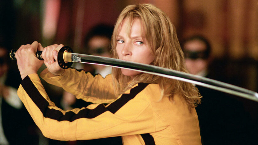 "Uma Thurman w filmie ""Kill Bill"" (2003)"