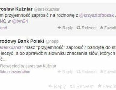 NBP na Twitterze: Krzysztof Bosak? Bandyta