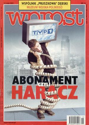 Okładka tygodnika Wprost nr 19/2001 (963)