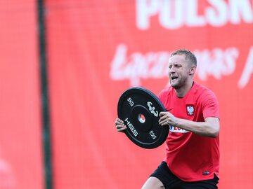 Kamil Glik - trening reprezentacji Polski w Soczi