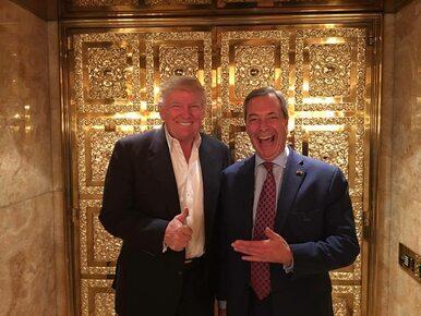 """Nigel Farage u Donalda Trumpa. Rozmawiali o """"wolności i zwyciężaniu""""..."""