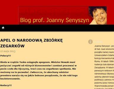 Senyszyn zbiera zegarki dla Nowaka