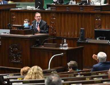 """Sejm głosował nad wotum nieufności dla Kamińskiego. """"Najlepszy minister..."""