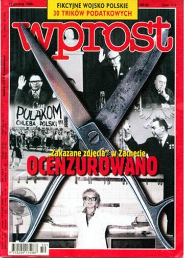 Okładka tygodnika Wprost nr 50/1998 (837)