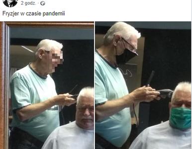 Lech Wałęsa poszedł do fryzjera. I... lepiej żeby nie pokazywał tych zdjęć