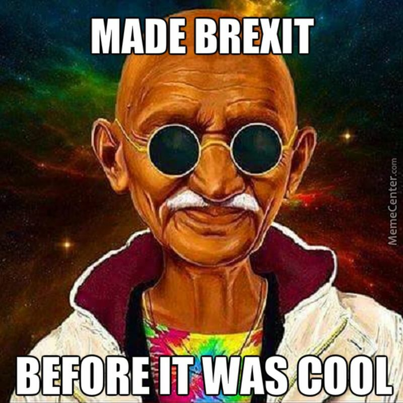 Hipster Gandhi. Zrobił brexit zanim to było modne