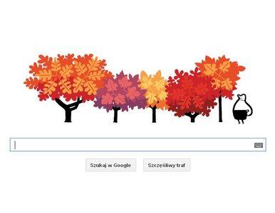 Google Doodle. W Google również rozpoczęła się jesień...