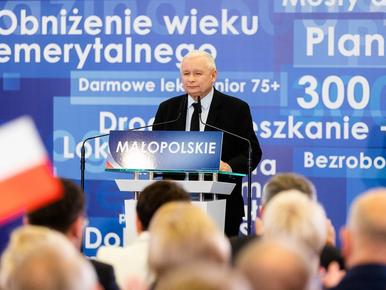 """Konwencja PiS w Krakowie. Kaczyński o """"sensach"""" dobrej zmiany,..."""