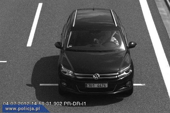 Tym autem mogą jechać porywacze dziecka (fot. policja.pl)