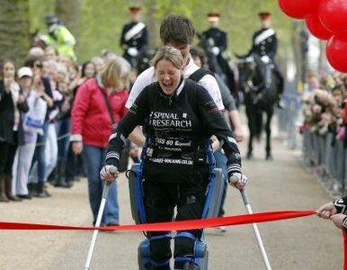 Sparaliżowana Brytyjka... ukończyła maraton