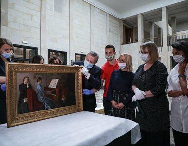 Odzyskany obraz Malczewskiego wrócił do Warszawy. Trafił do kwarantanny