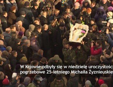 "Ukraina pożegnała 25-letniego demonstranta. ""Bohater"""
