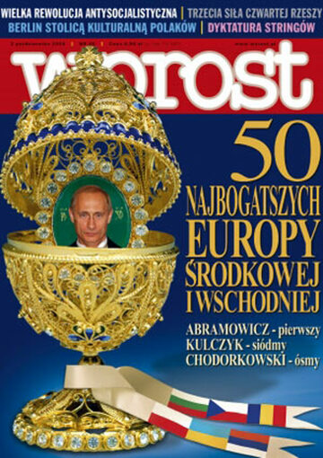 Okładka tygodnika Wprost nr 40/2004 (1140)