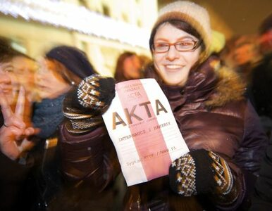 """""""ACTA? Procedura ratyfikacyjna może trwać latami"""""""