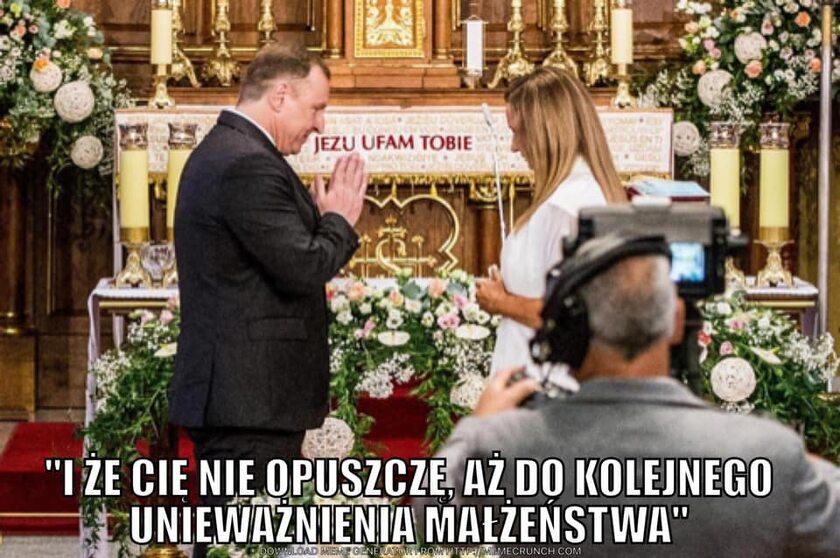 Mem po kolejnym ślubie kościelnym Jacka Kurskiego